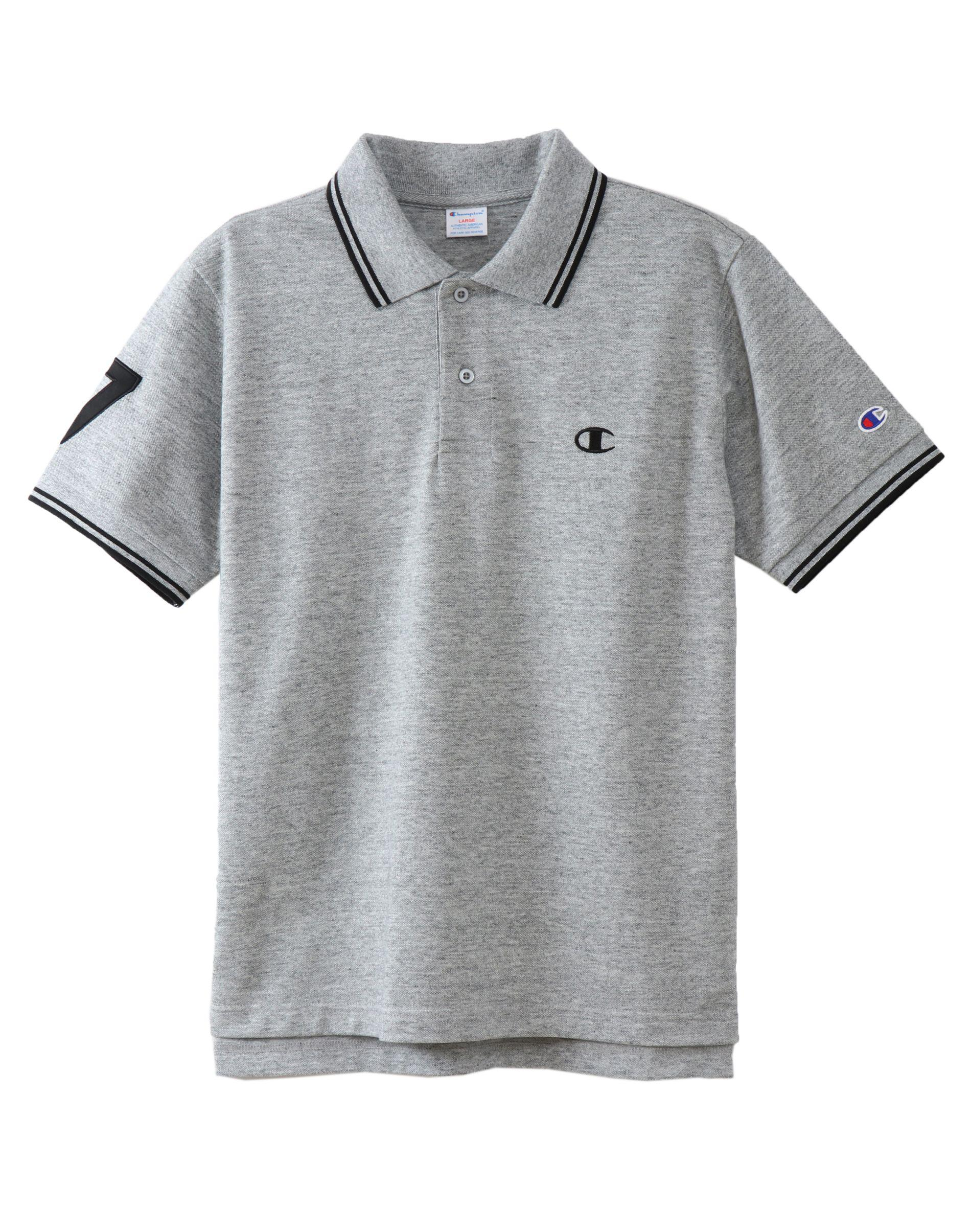 dff121a2 Champion Japan Premium Campus Polo Shirt in Gray for Men - Lyst