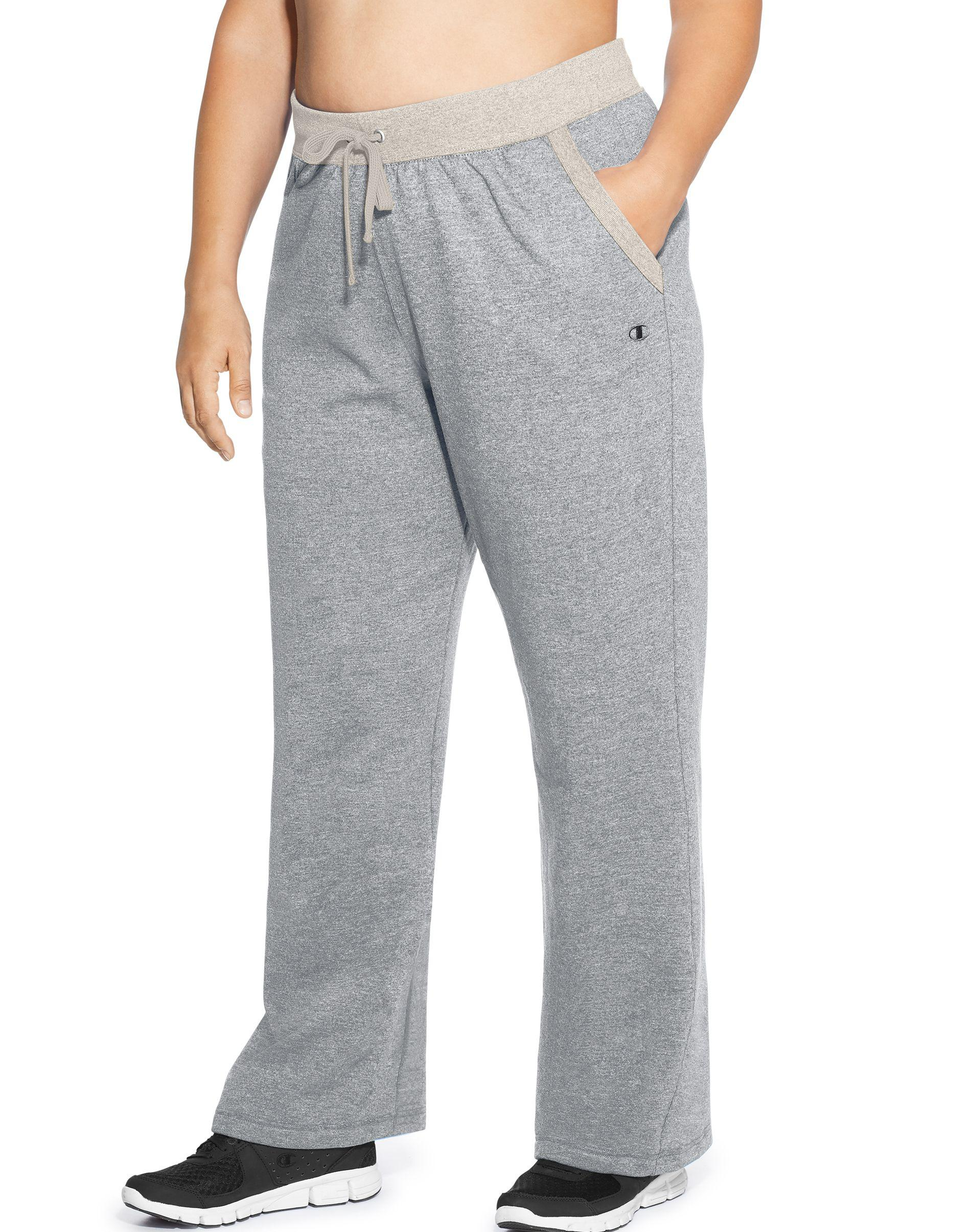 5ce3db9bed9d Lyst - Champion Plus Powerblend® Fleece Open Bottom Pants in Gray