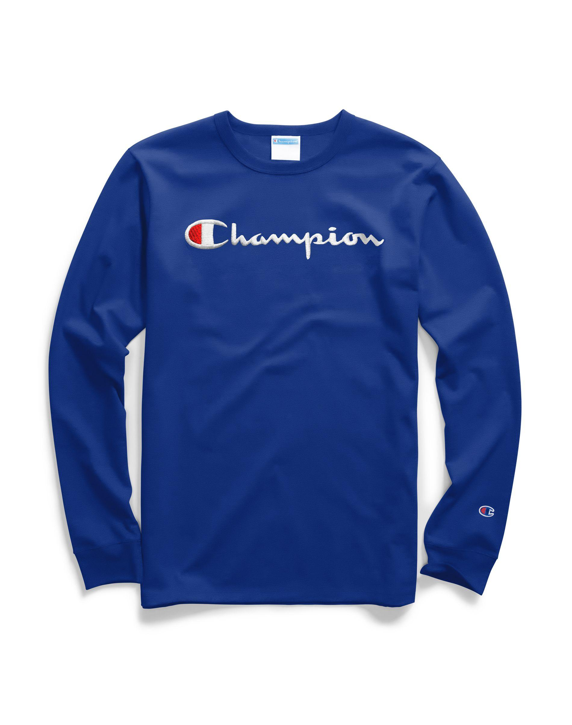 2462a616f Champion - Blue Life® Long-sleeve Tee, Script Logo for Men - Lyst. View  fullscreen