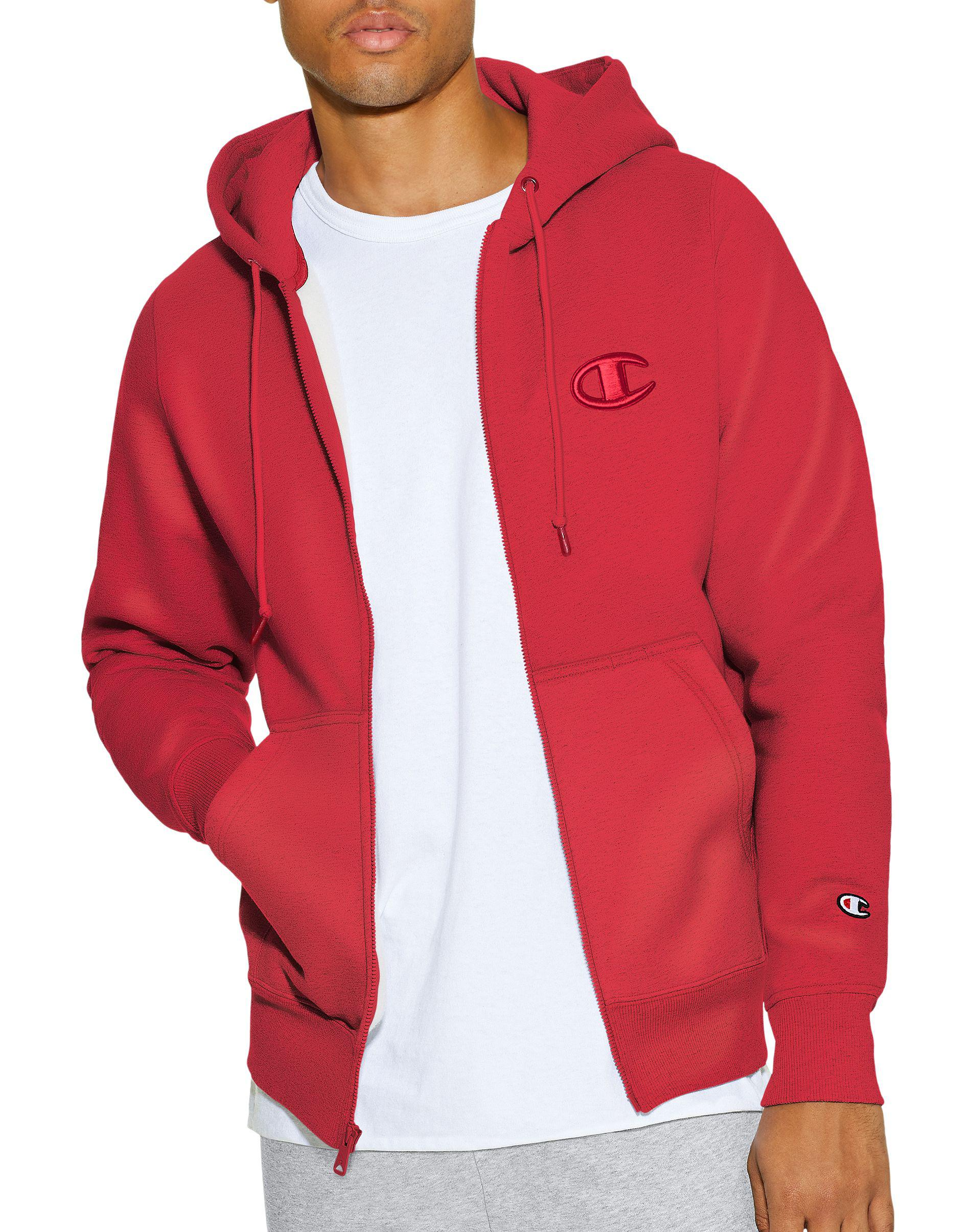 a7a6e2368b22 Champion - Red Lifetm Super Hood® 2.0 Men s Full Zip Hoodie for Men - Lyst.  View fullscreen