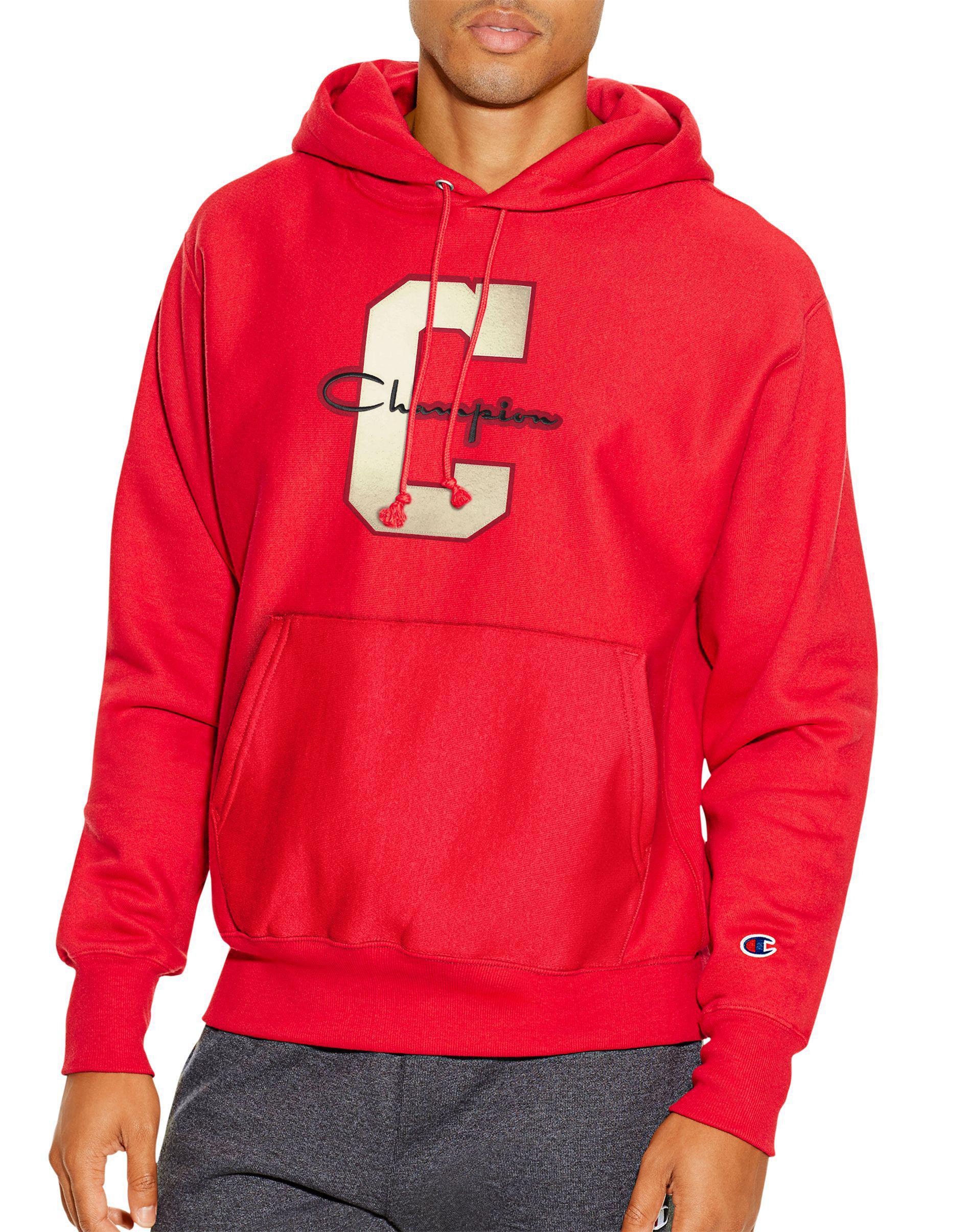 c1daa7c4b Champion. Men s Red Life® Reverse Weave® Pullover Hoodie
