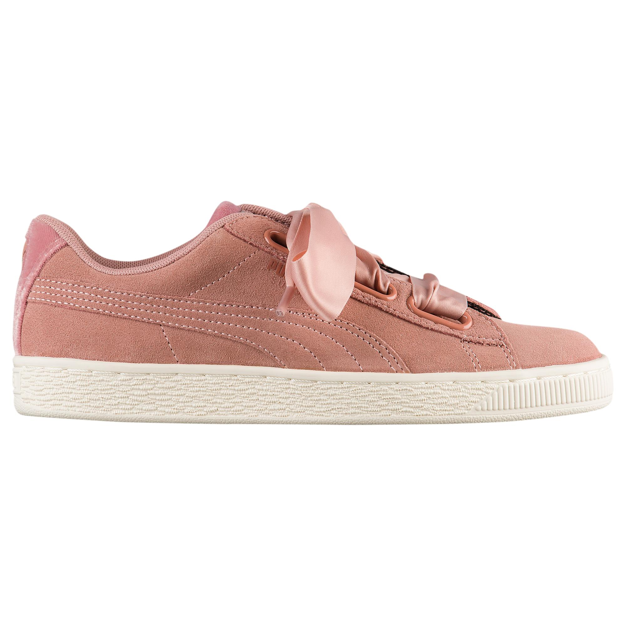 sports shoes 3832a b83f1 PUMA - Pink Suede Heart Basketball Shoes - Lyst