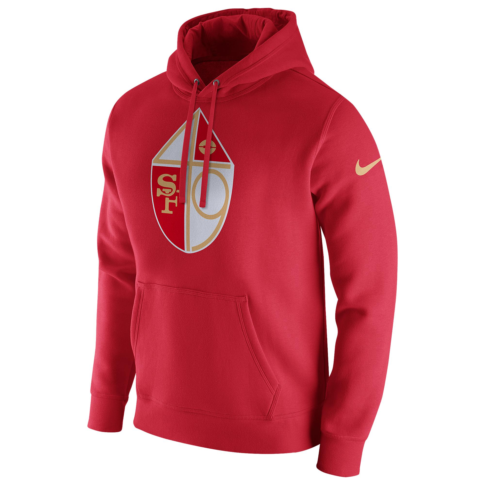 e222a9c54d Nike - Red San Francisco 49ers Nfl Pullover Fleece Club Hoodie for Men -  Lyst. View fullscreen