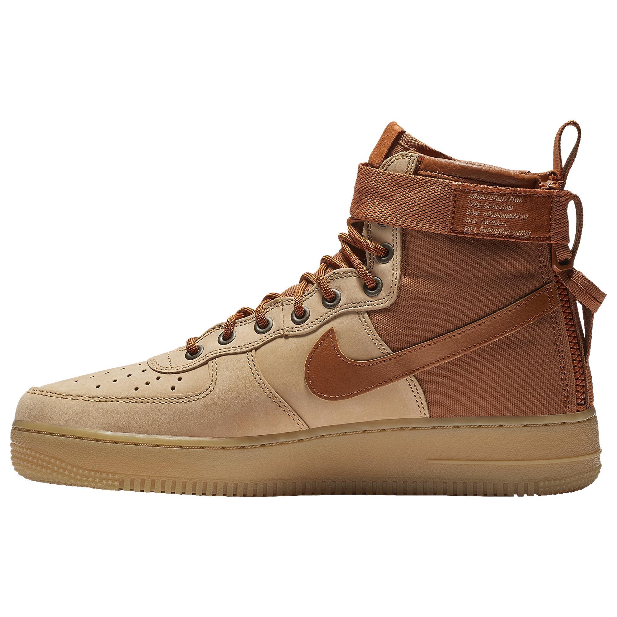 hot sale online f9cb0 0d466 Men's Brown Sf Air Force 1 Mid Premium Shoe