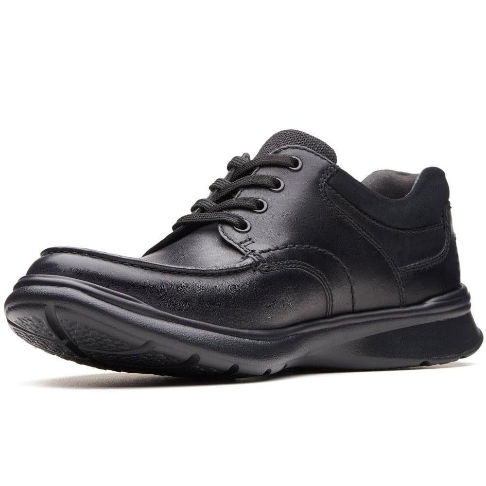 f9b743e97260 Clarks - Black Cotrell Edge Mens Casual Leather Lace Up Shoes for Men -  Lyst. View fullscreen