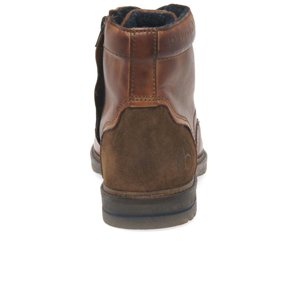 4d960c90a7bce9 Bugatti - Brown Ringo Ii Mens Cognac Leather Lace Zip Ankle Boots for Men -  Lyst. View fullscreen
