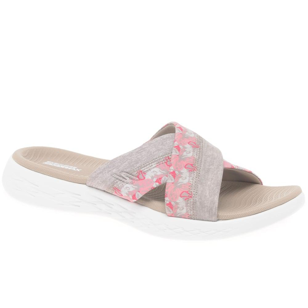 e4173f7cdc44 Lyst - Skechers On The Go 600 Monarch Casual Mules in Pink