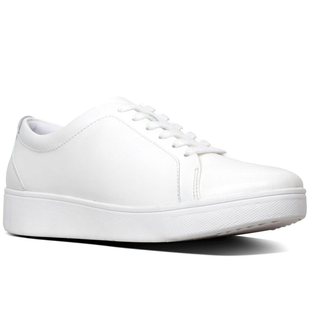 e0f263737 Fitflop Rally Womens Casual Trainers in White - Lyst