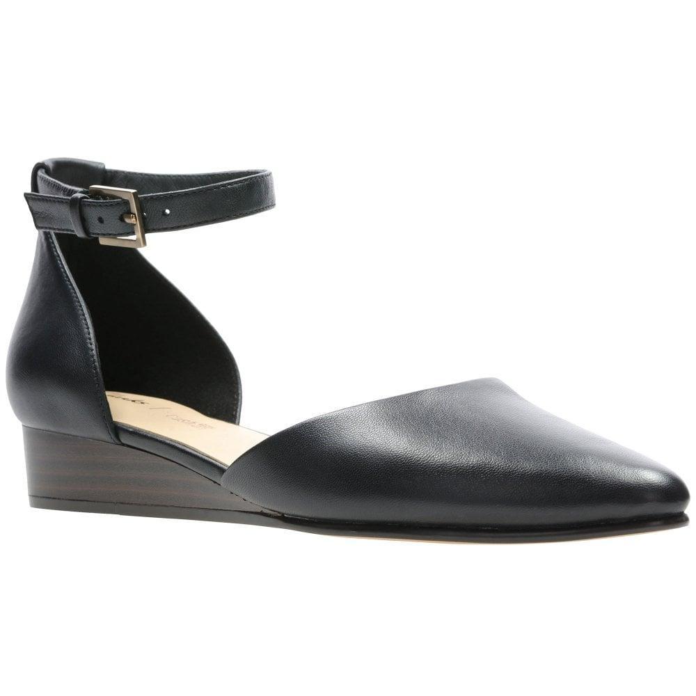 19865292f87e Clarks Sense Eva Wedge Heel Shoes in Black - Lyst