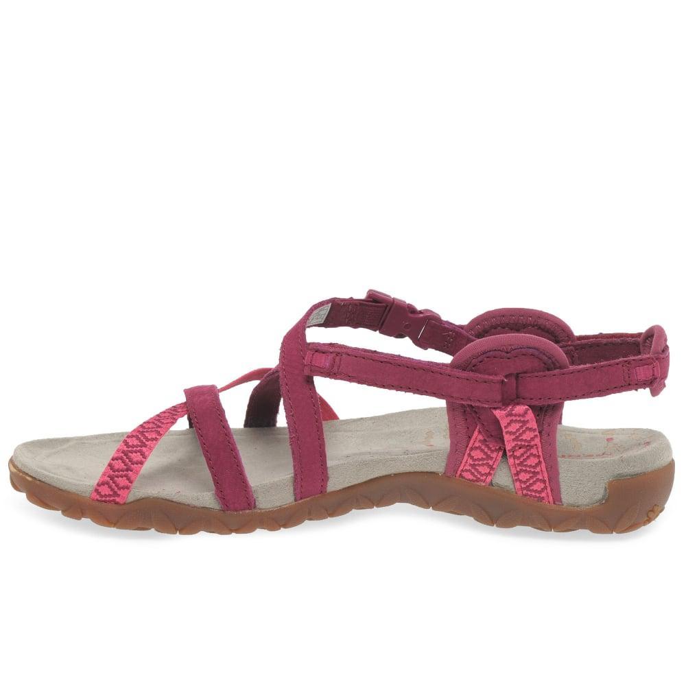 536552a8f7c7 Merrell - Multicolor Terran Lattice Ii Womens Fuschia Sandals - Lyst. View  fullscreen