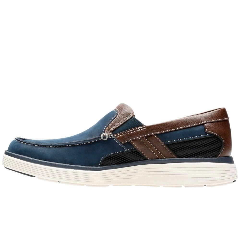 053c50a4363 Clarks - Blue Un Abode Free Mens Slip On Shoes for Men - Lyst. View  fullscreen