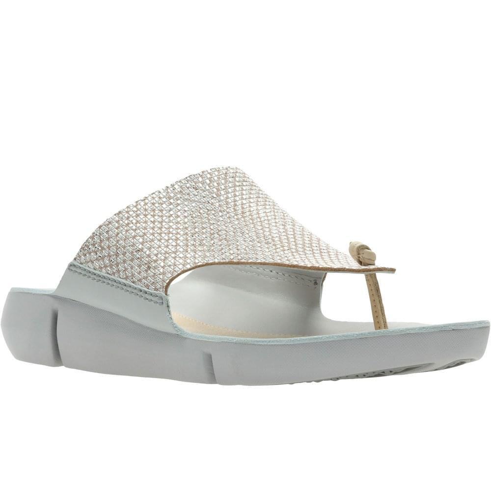 eccc3ffe0876 Lyst - Clarks Tri Carmen Womens Toe-post Sandals in Metallic