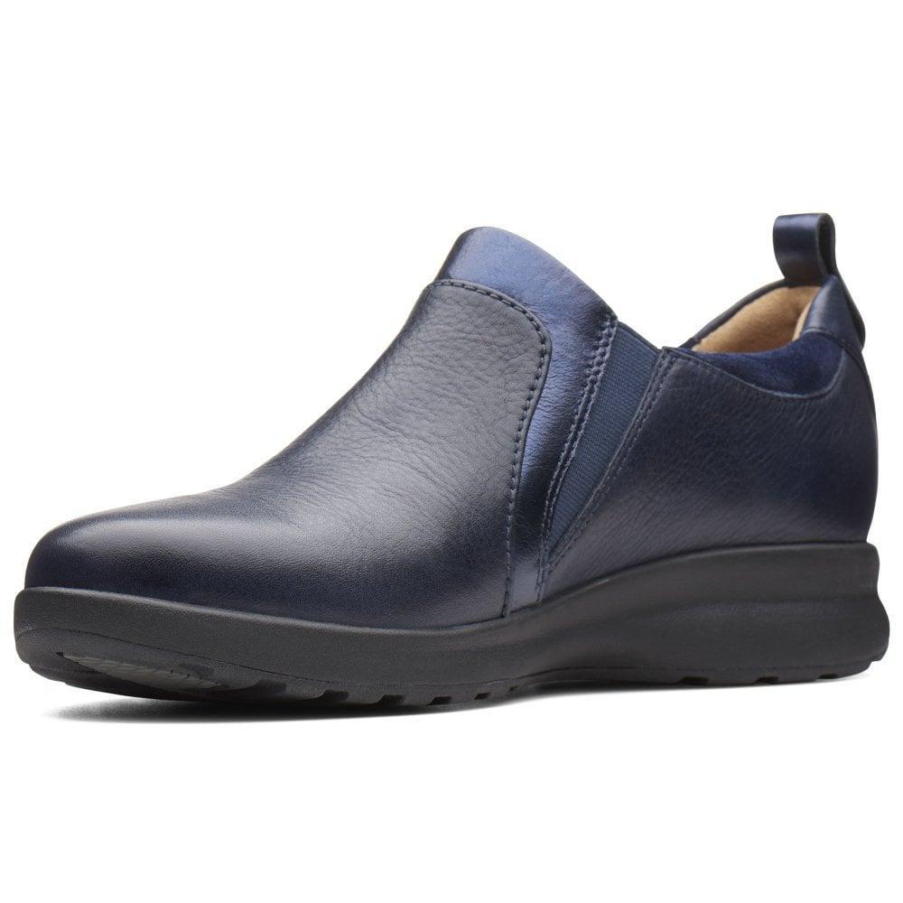 f16bc62a8b0 Clarks - Blue Un Adorn Zip Womens Wide Fit Casual Shoes - Lyst. View  fullscreen