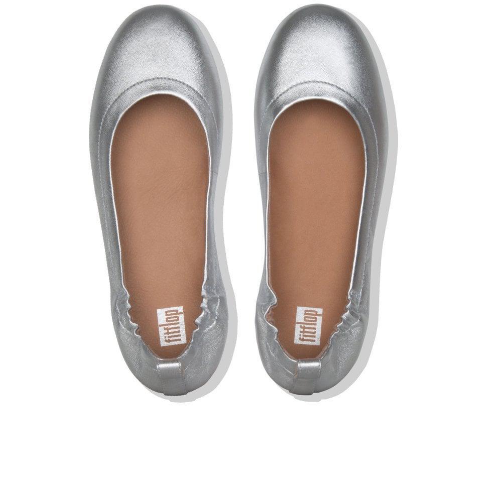 a2031253ec07 Fitflop - Metallic Allegro Leather Ballet Flats - Lyst. View fullscreen