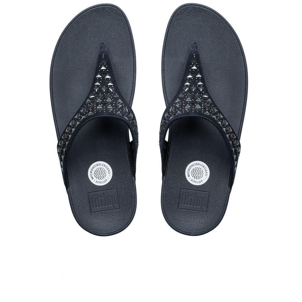 ce8990009 Lyst - Fitflop Carmel Toe Post Womens Sandals in Blue
