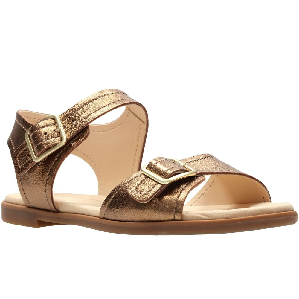 49133bc46816ea Lyst - Clarks Bay Primrose Womens Sandals in Metallic