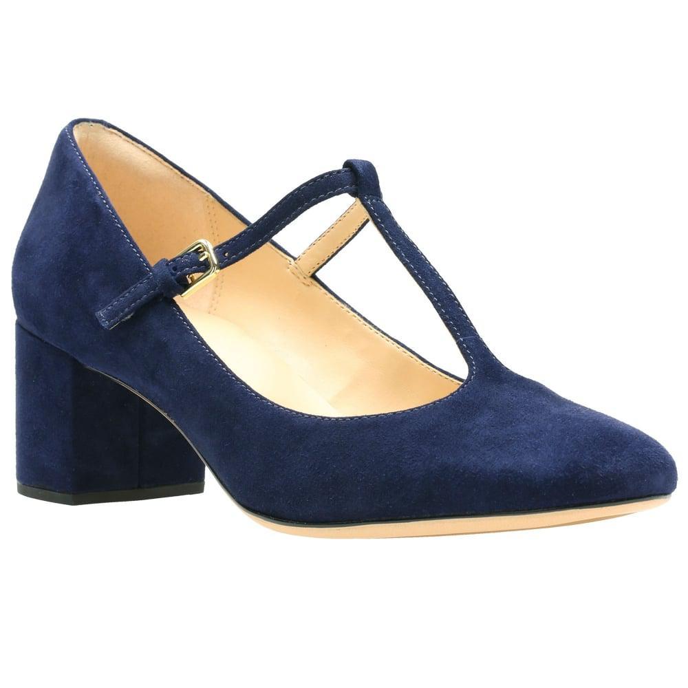 d762954650f Clarks Orabella Fern Womens T-bar Court Shoe in Blue - Lyst