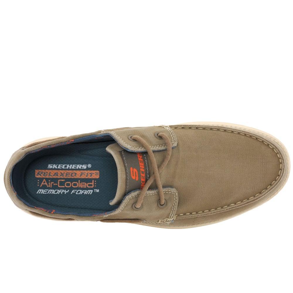 a12b1584db56 Lyst - Skechers Status Melec Mens Vintage Wash Boat Shoes in Brown ...