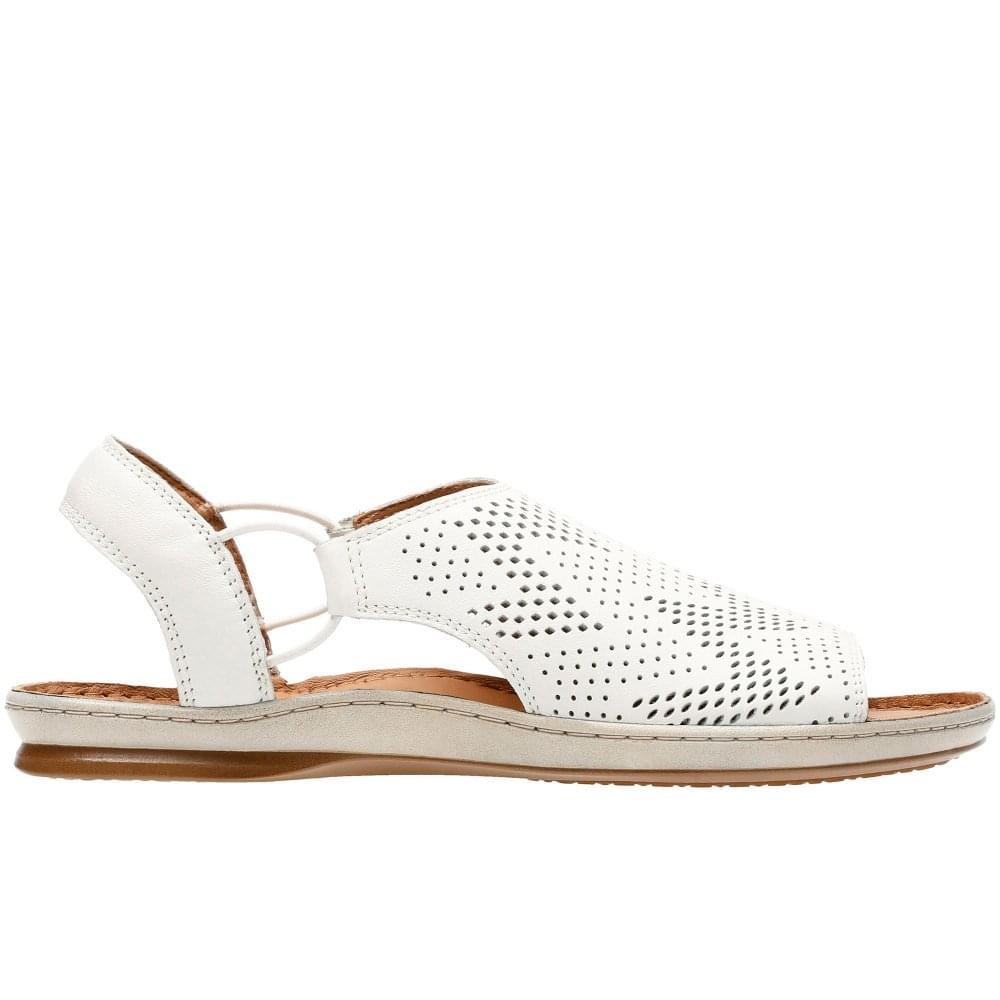 da35074f487a Lyst - Clarks Sarla Cadence Womens Peep-toe Sandals in White