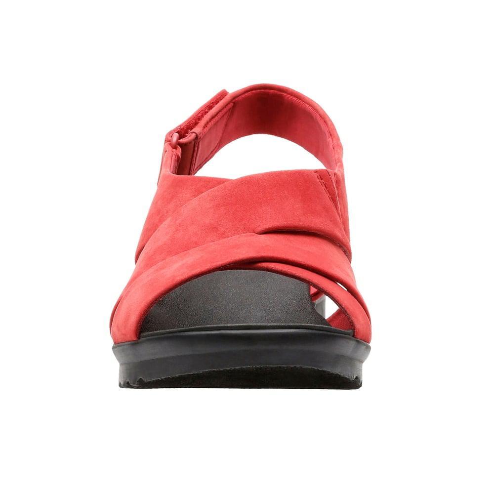 6776a7748153 Clarks Caddell Petal Womens Wide Slingback Sandal in Red - Lyst