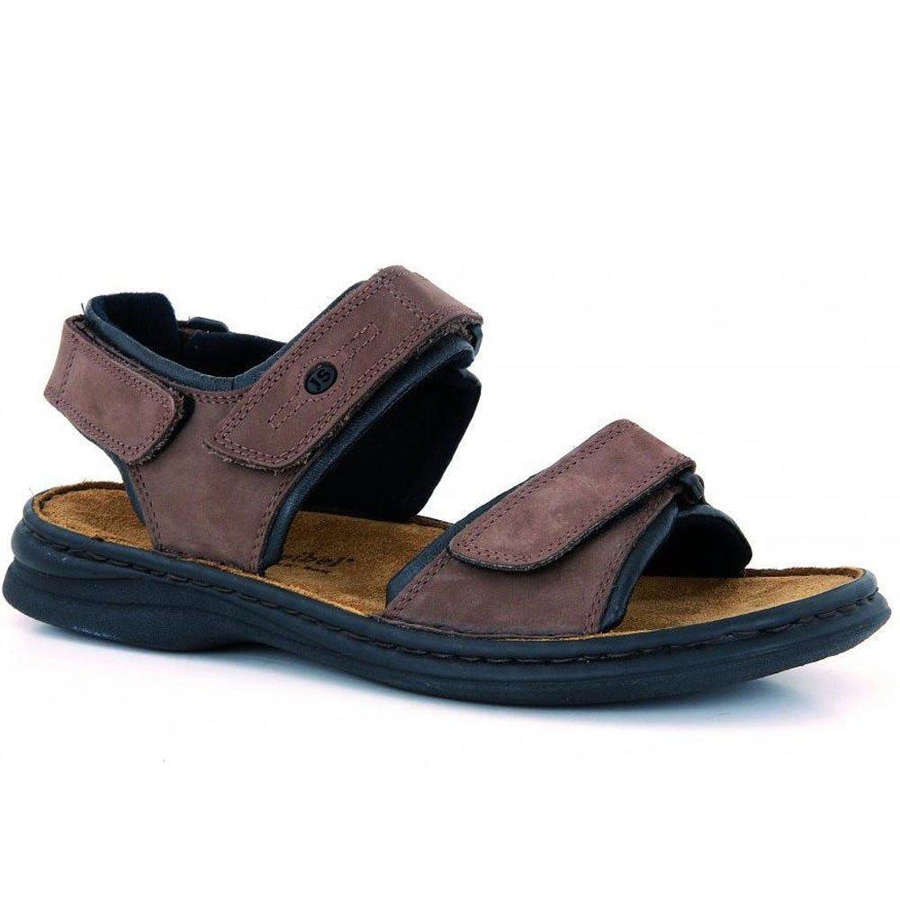 25748ad1e186 Lyst - Josef Seibel Rafe Plain Velcro Leather Mens Sandals in Black ...