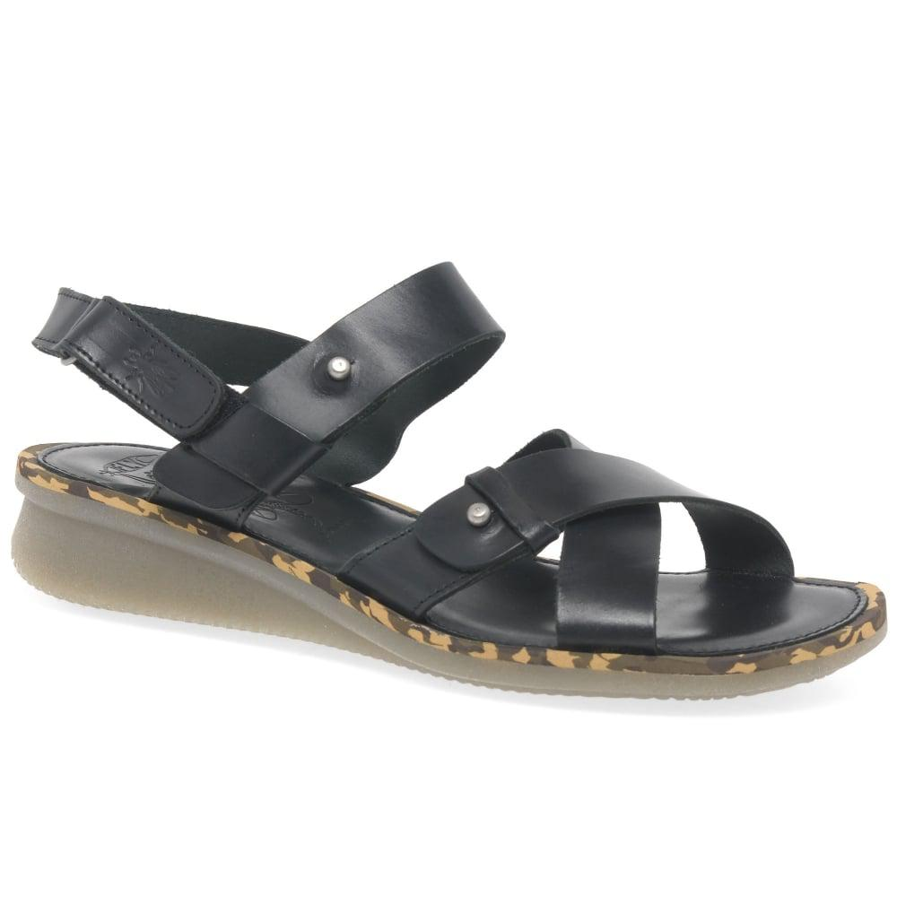 100e2cfe376b77 Lyst - Fly London Crib Womens Strap Sandals in Black