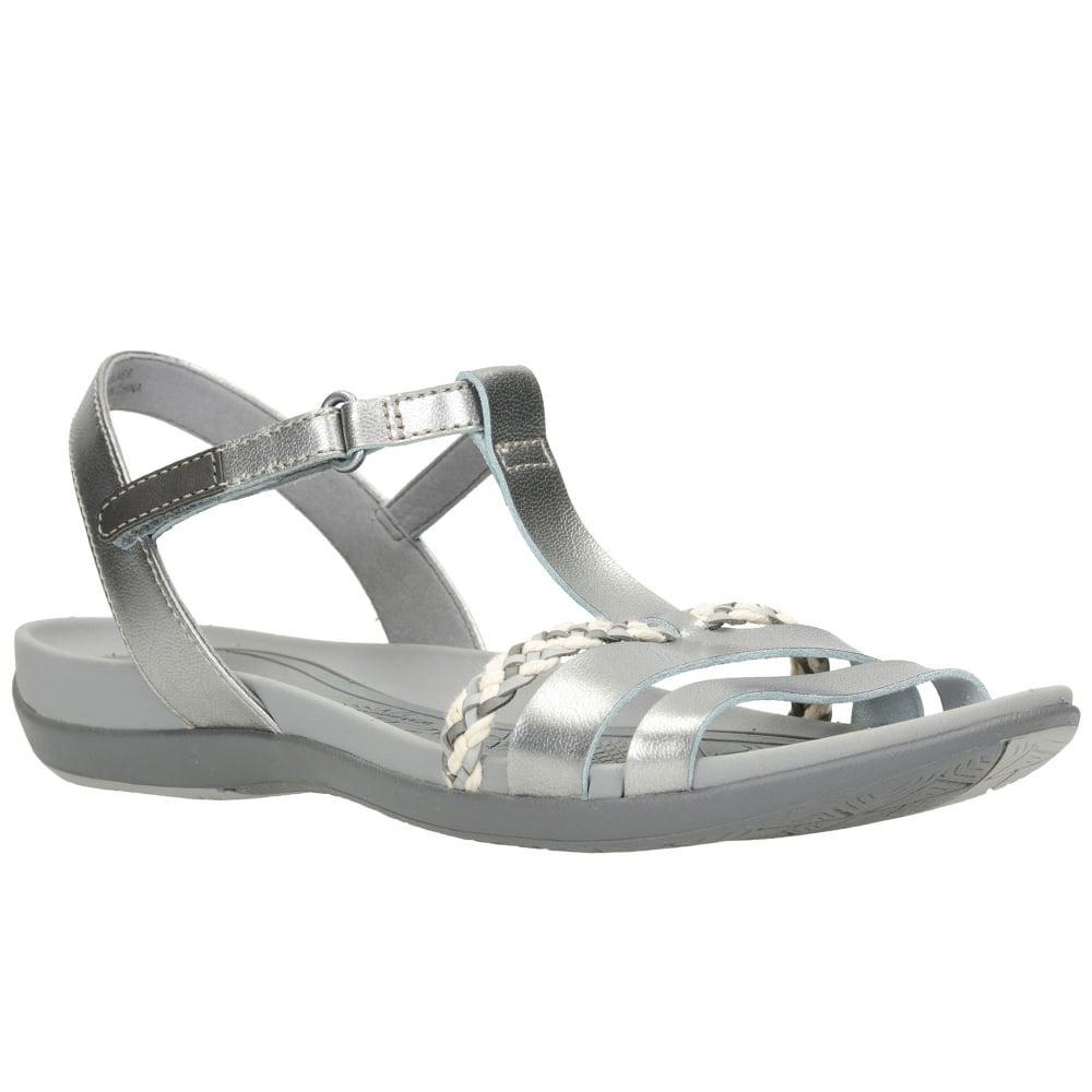 1b82bfcb520a Lyst - Clarks Tealite Grace Womens Casual Sandals in Metallic