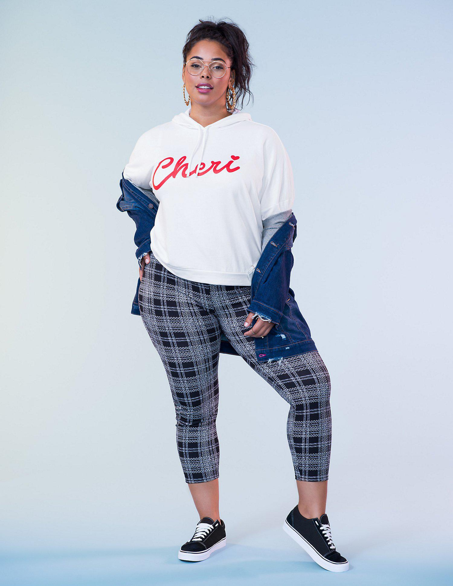 b4b5bc599b79b Lyst - Charlotte Russe Plus Size Plaid Pants in Black