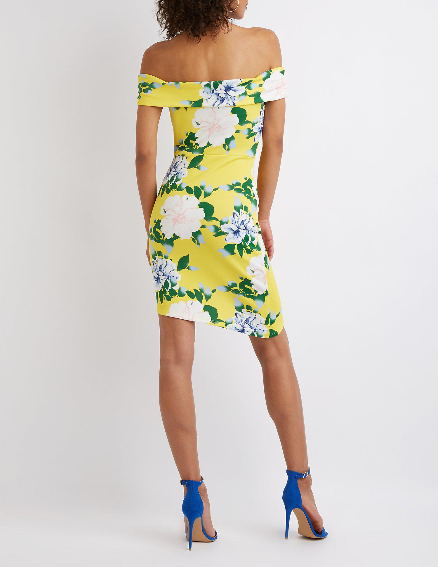 19cc33fa146 Gallery. Previously sold at  Charlotte Russe · Women s Off The Shoulder  Dresses ...