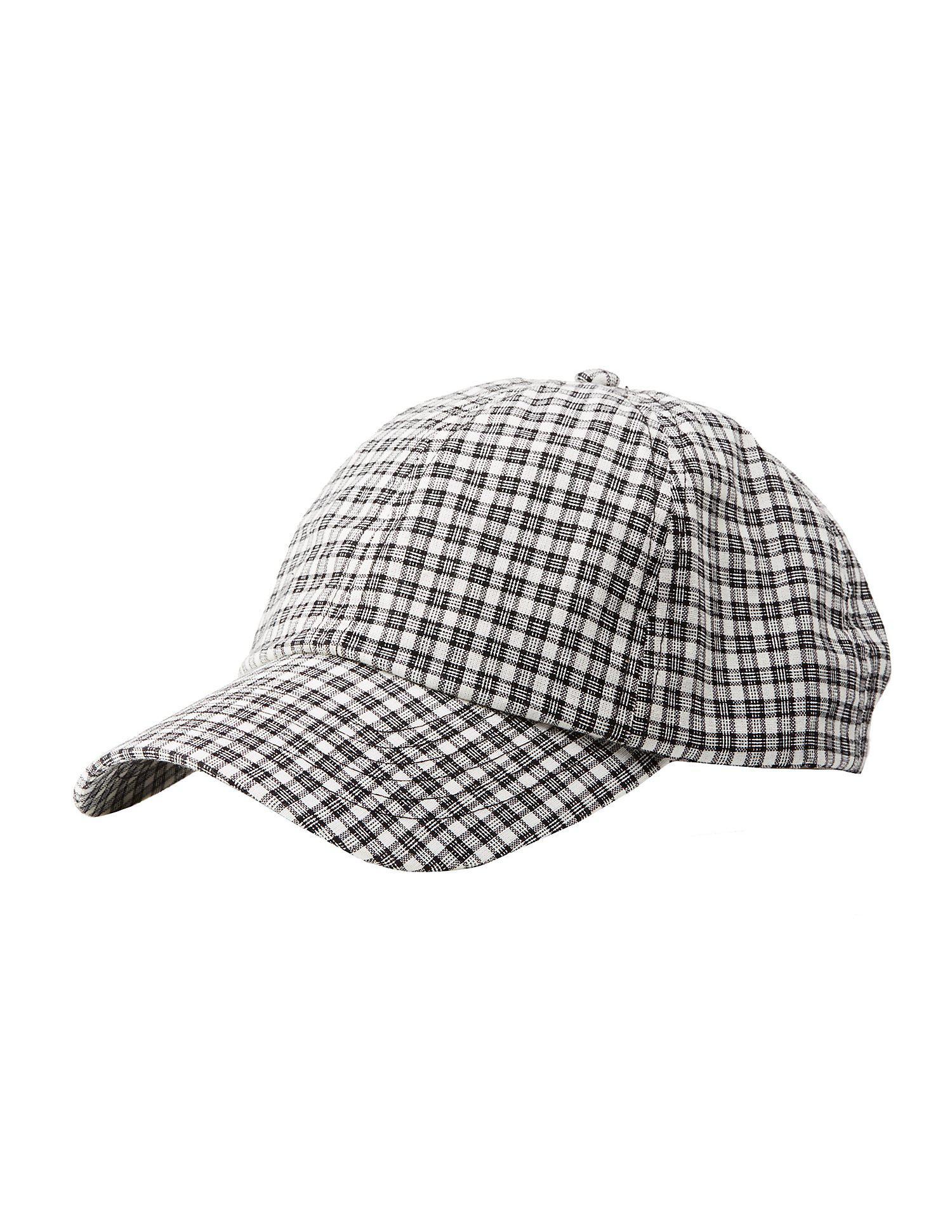 7f834e4c7b4702 Lyst - Charlotte Russe Gingham Baseball Hat in Black for Men
