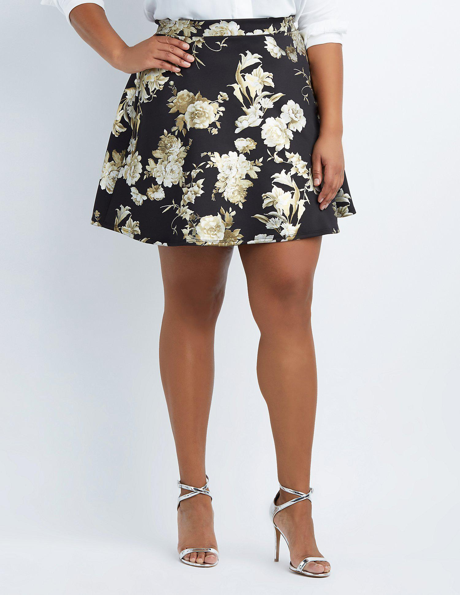 fab1414e122 Gallery. Previously sold at  Charlotte Russe · Women s Skater Skirts ...