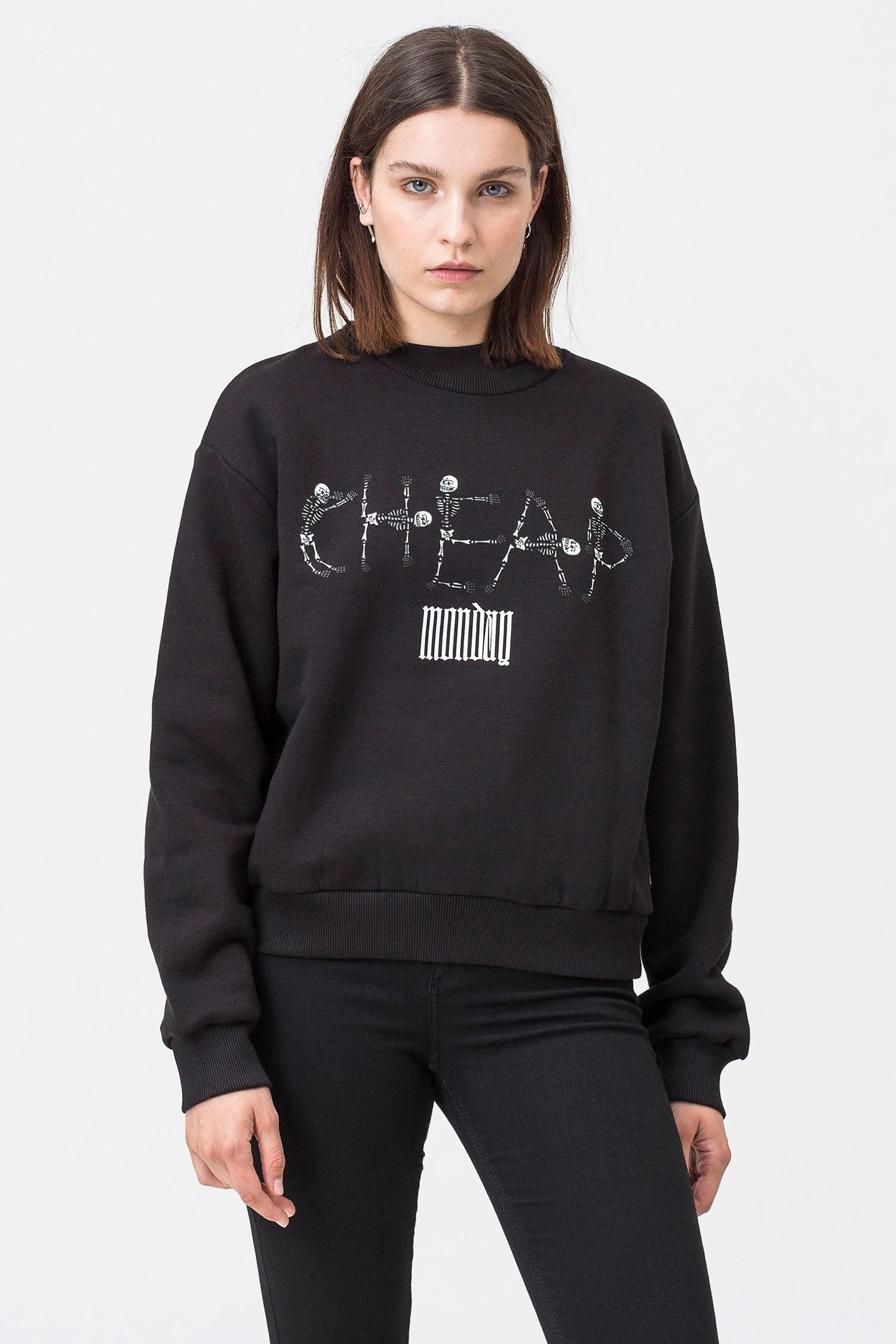 8a553f3f6 Cheap Monday Get Skeleton Logo Sweat in Black - Lyst