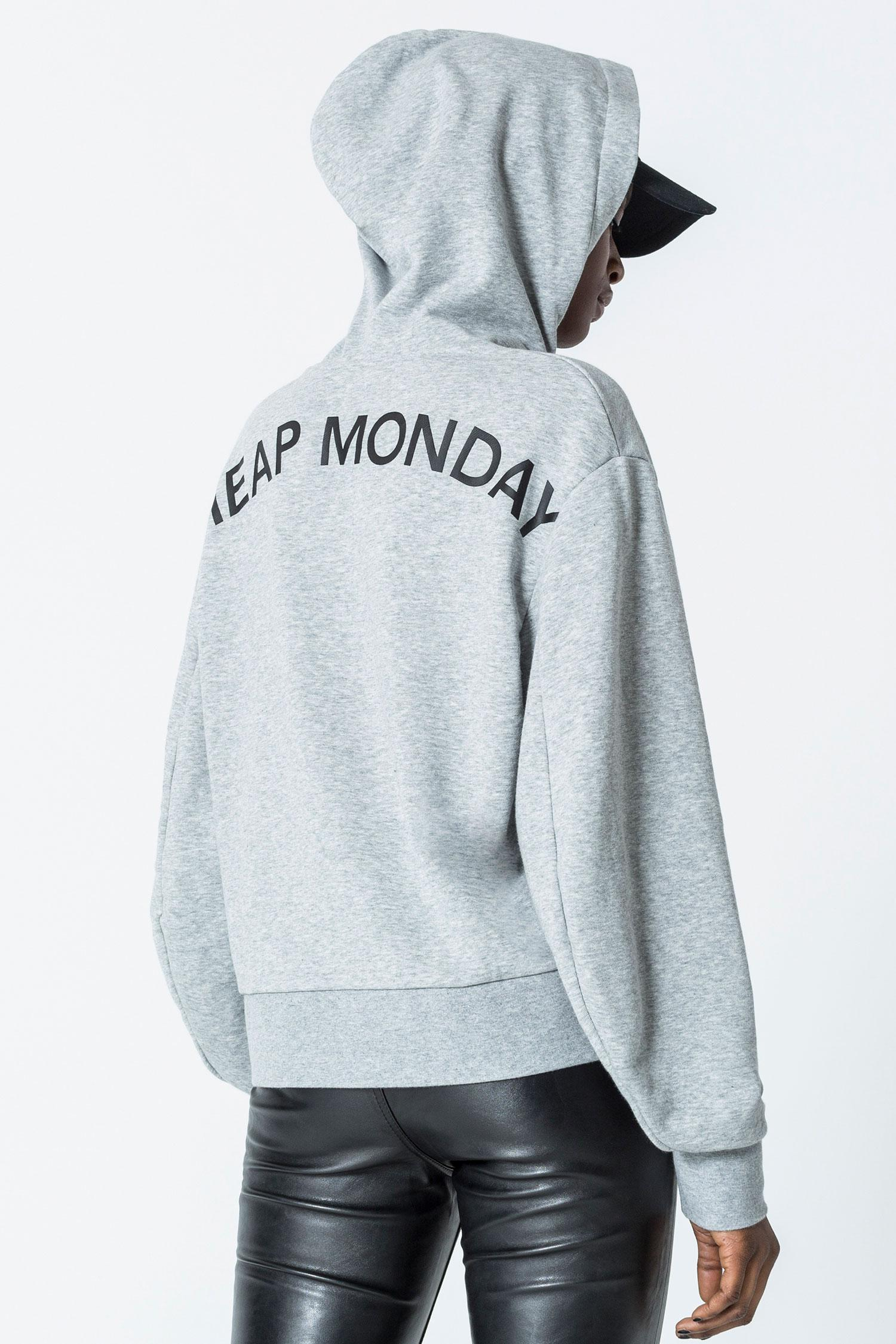43da2cba3 Lyst - Cheap Monday Attract Arched Logo Hood in Gray for Men