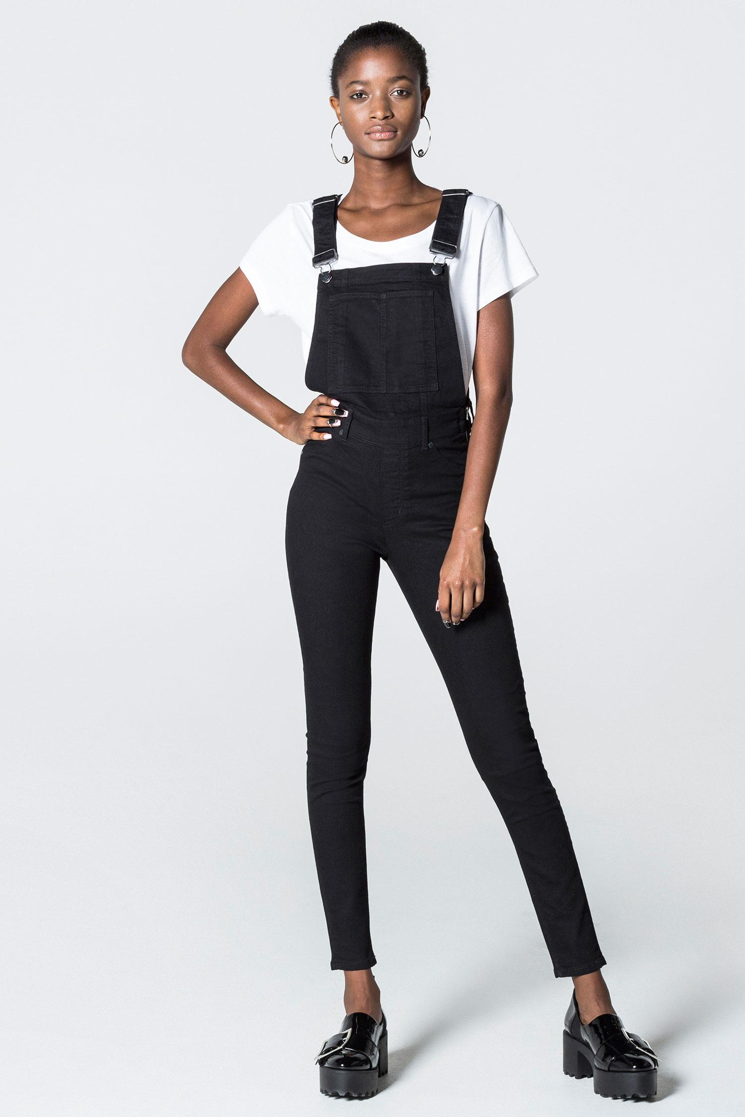 d2f01b495 Cheap Monday Dungaree Spray Black in Black - Lyst