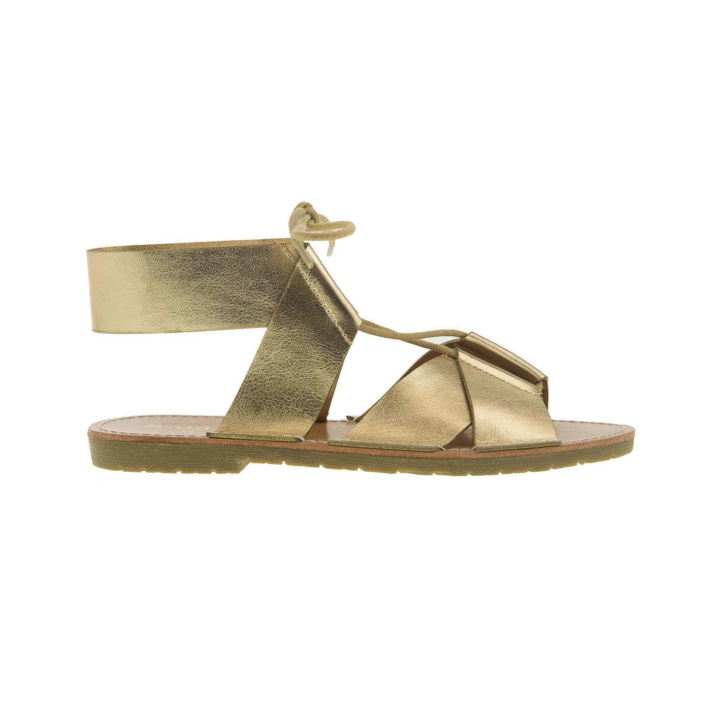 Dirty Laundry Emphasis Metallic Flat Sandal In Metallic Lyst