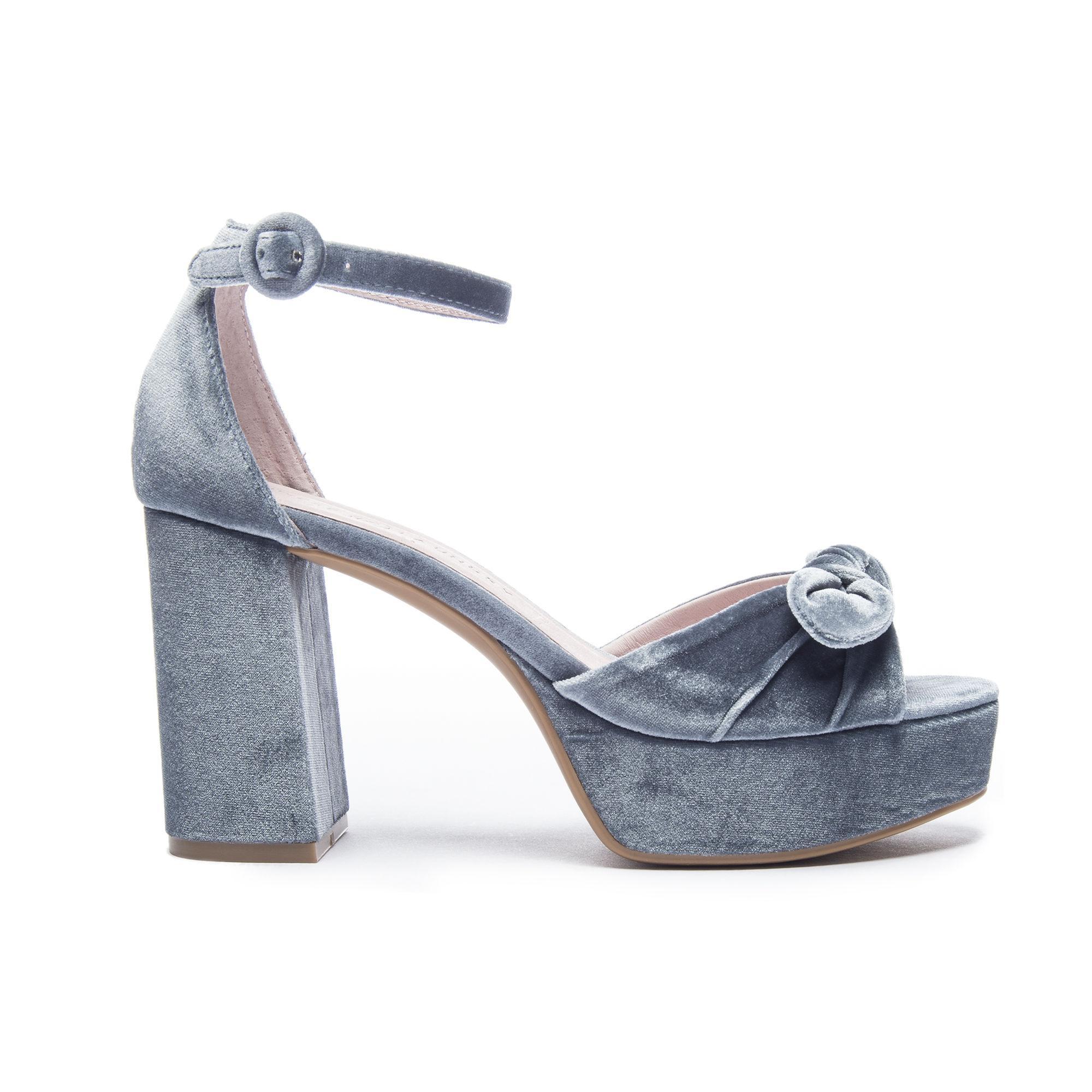 752adfb9632 Lyst - Chinese Laundry Tina Velvet Platform Sandal in Blue