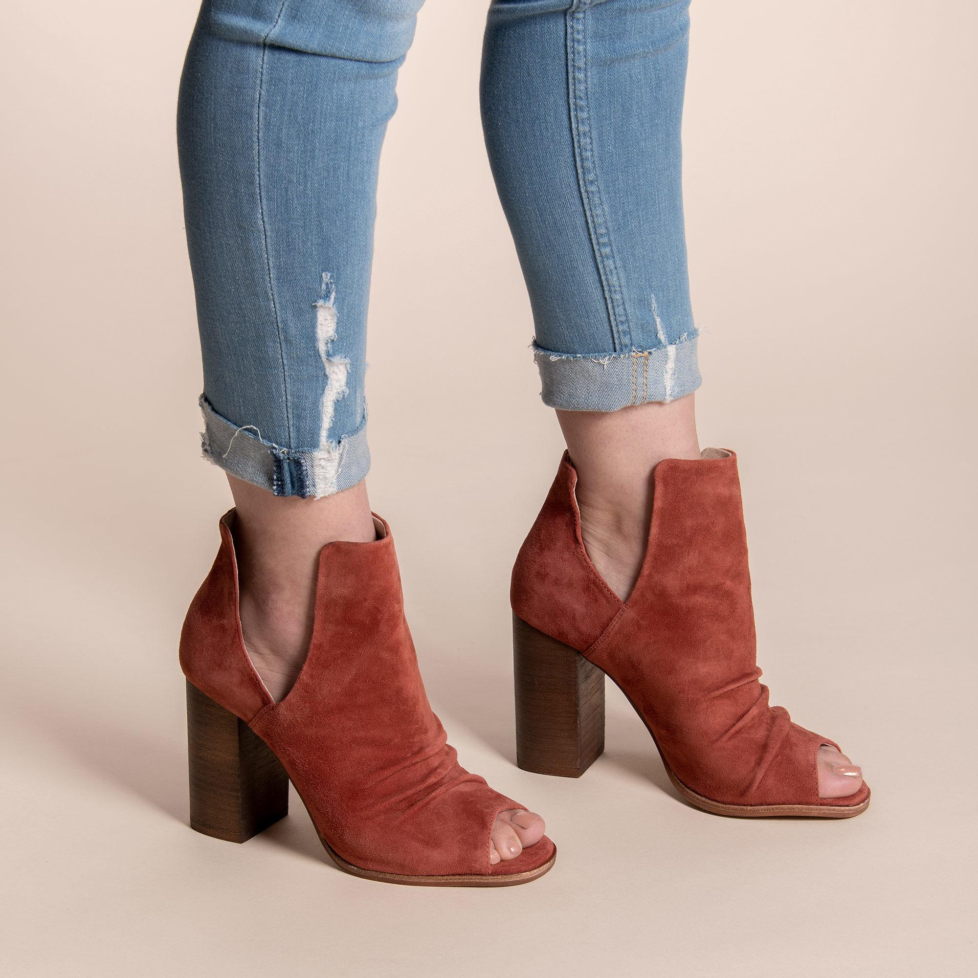 ac68532139f Lyst - Chinese Laundry Leena Peep Toe Bootie in Brown
