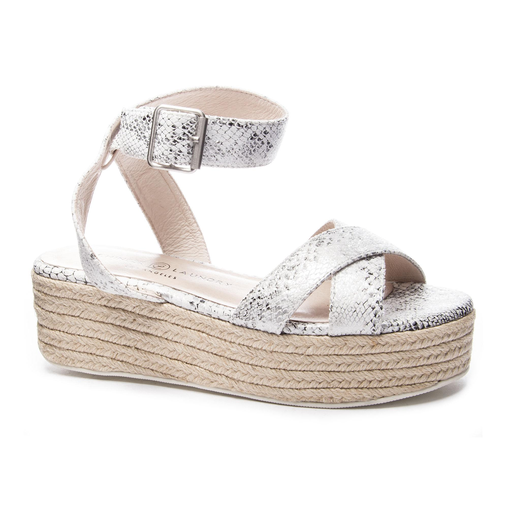 9a8965bf9bc1 Lyst - Chinese Laundry Zala Wedge Sandal in White