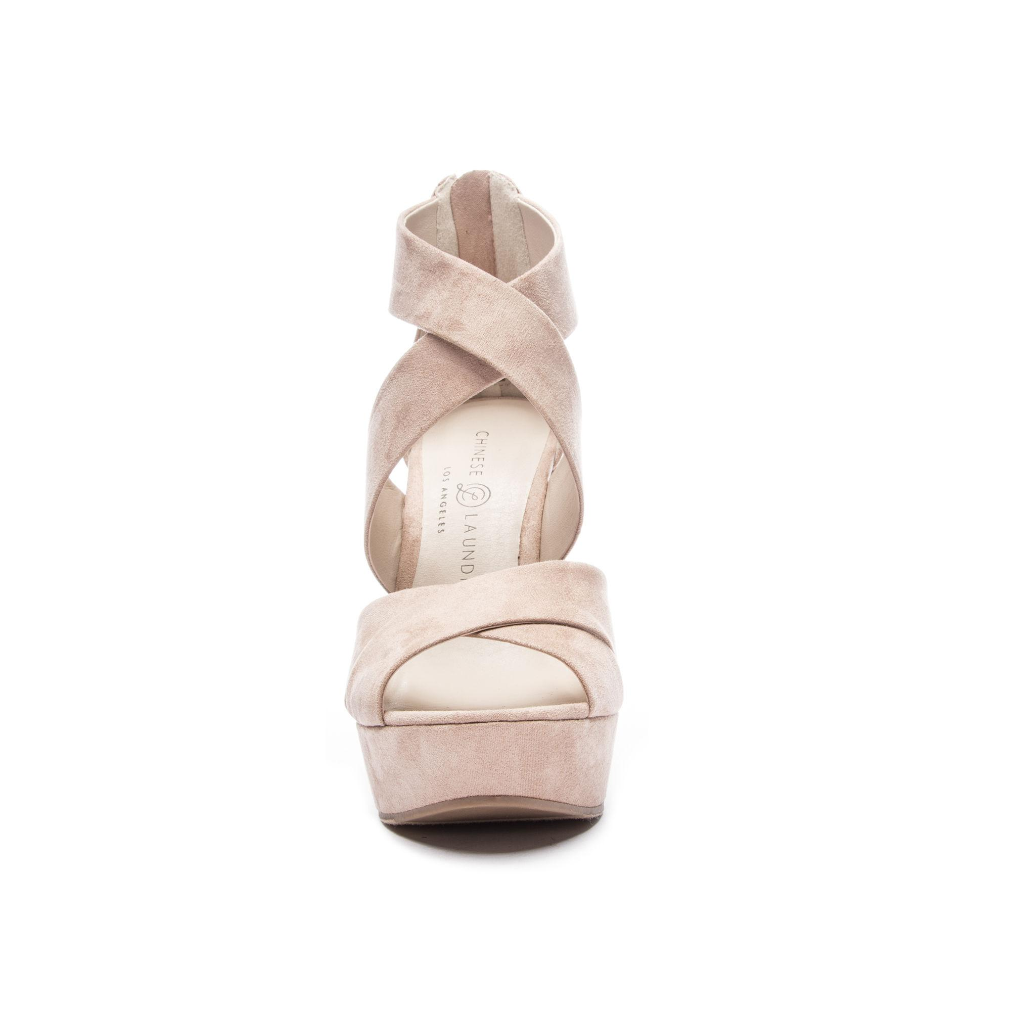 d7b76ff59579 Lyst - Chinese Laundry Milani Wedge Sandal in Natural