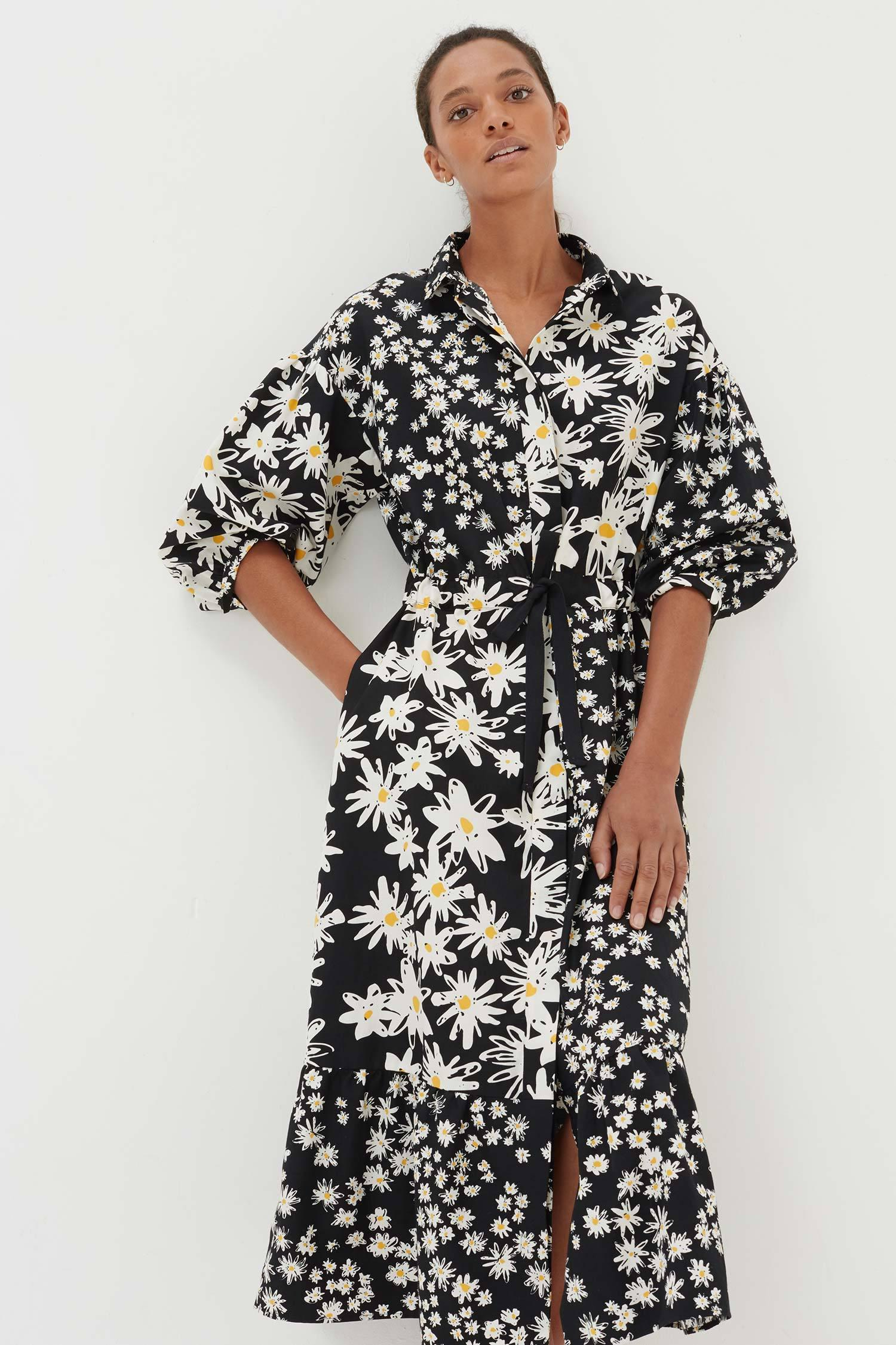 9057d500135c6e Chinti   Parker - Black Floral Print Shirt Dress - Lyst. View fullscreen