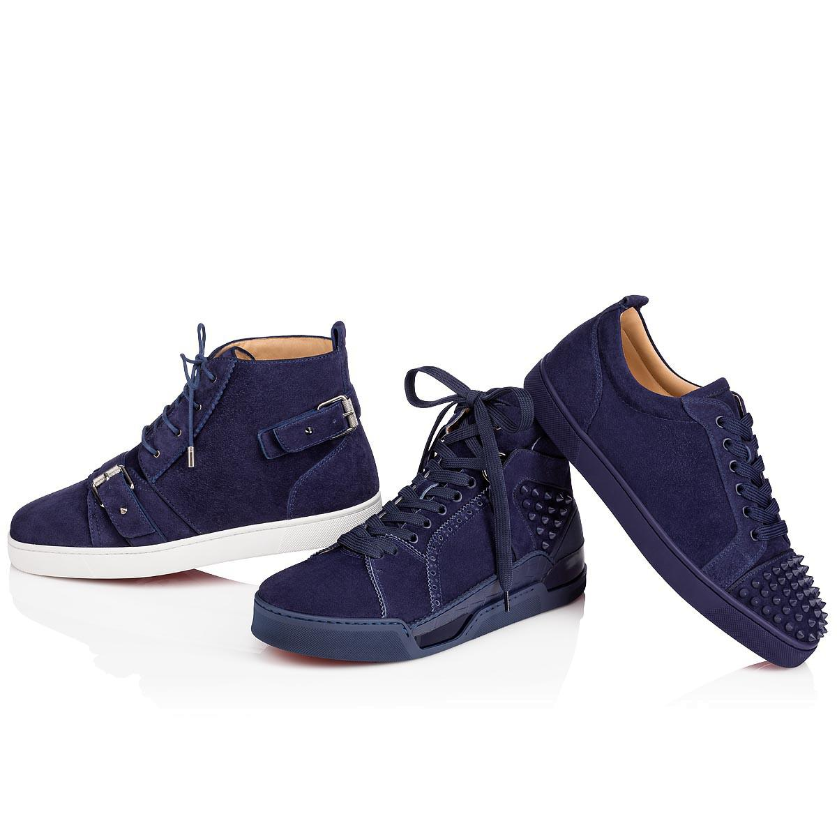 2a3e3b8243db ... high top sneakers china blue f8e8f 2db58  coupon code for lyst christian  louboutin nono strap flat in blue for men 0857c edf2d