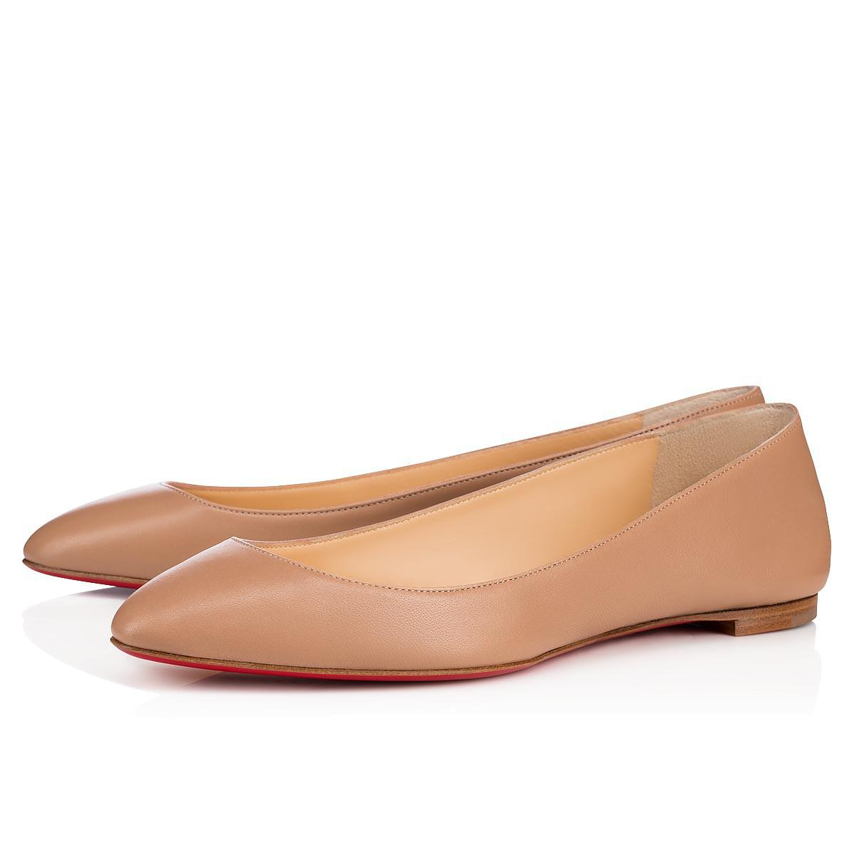 418a9516bcd5 Lyst - Christian Louboutin Eloise Nappa Nude Lambskin in Natural