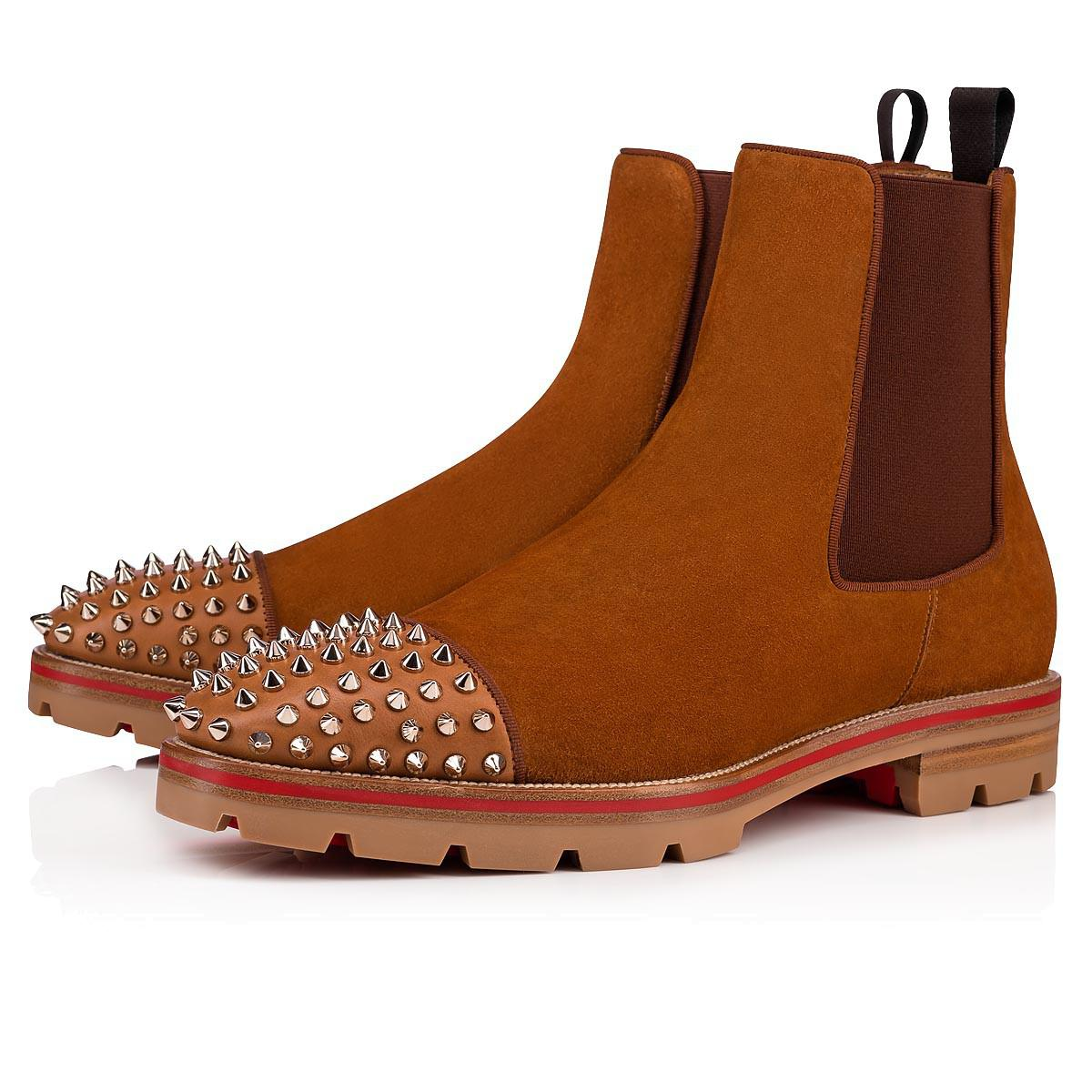 ee1c841b89e8 Lyst - Christian Louboutin Melon Spikes Flat in Brown for Men