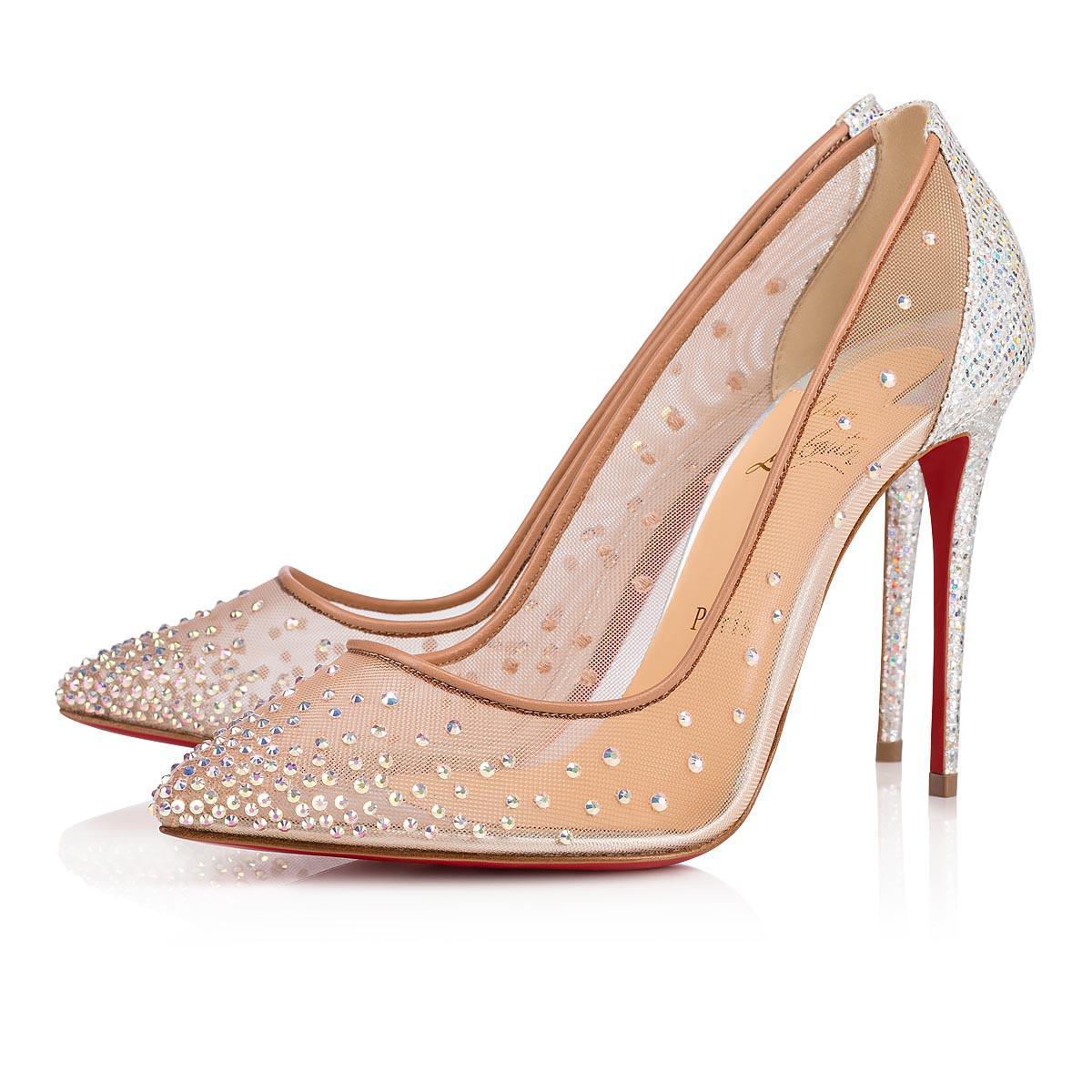 1c70f2dc324 Christian Louboutin. Women s Metallic Follies Strass Rete glitter Rainbow  100 Crystal Glitter