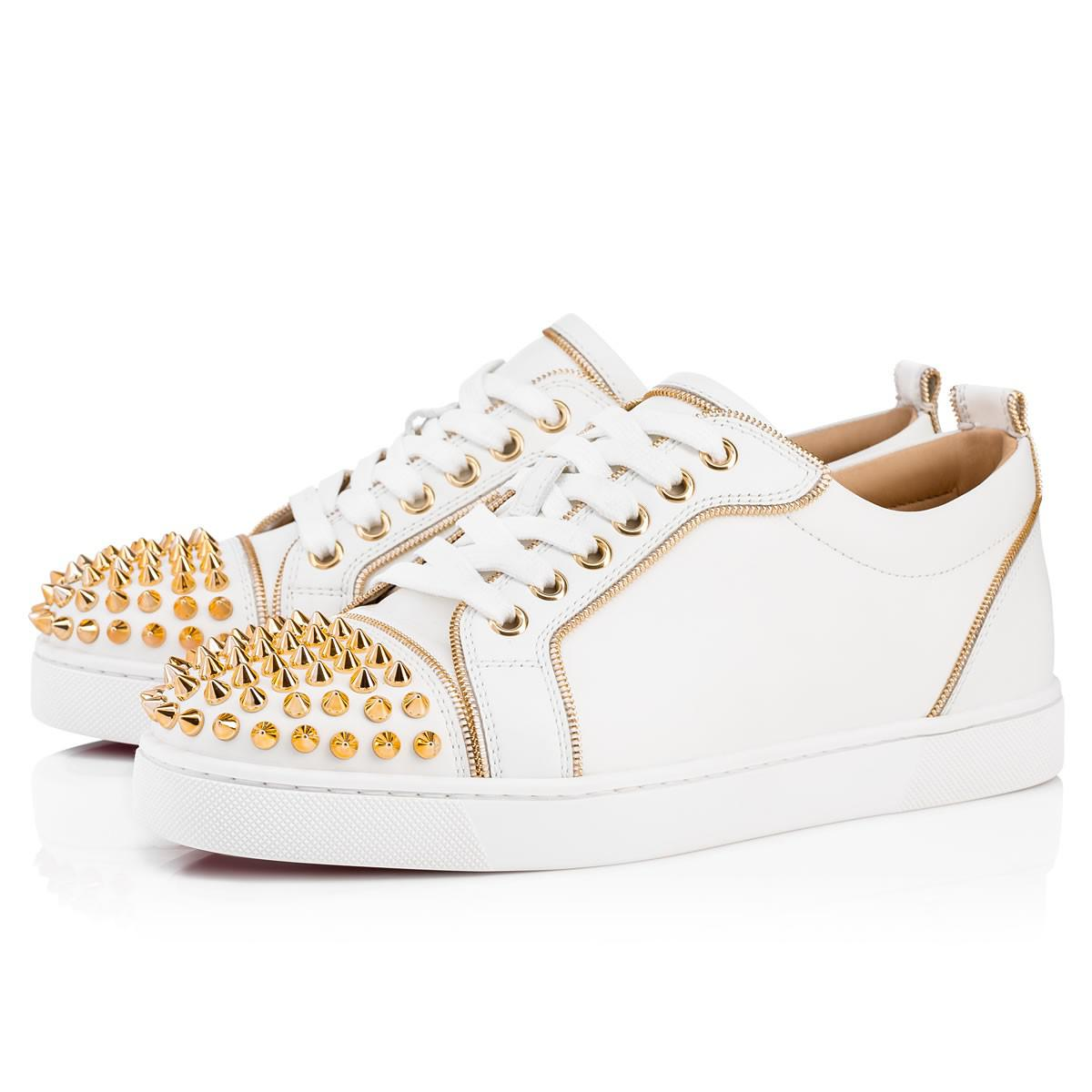 b91b91d9d0a6 Christian Louboutin. Women s Junior Z Woman Spikes Calf Latte gold Calfskin