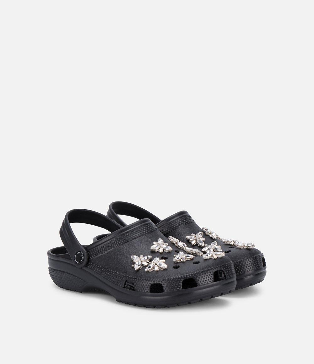 807bd13c25259 Lyst - Christopher Kane Rhinestone Embellished Crocs in Black
