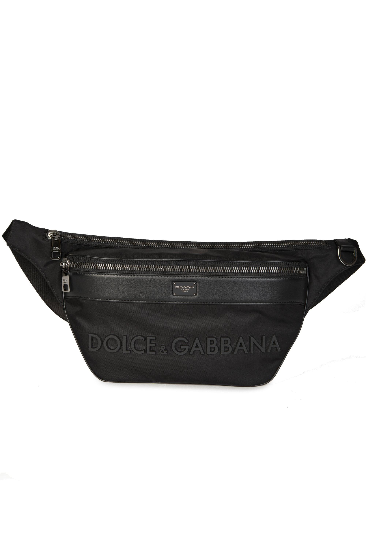 1d40fc55400f Dolce & Gabbana Nylon Fanny Pack in Black for Men - Lyst