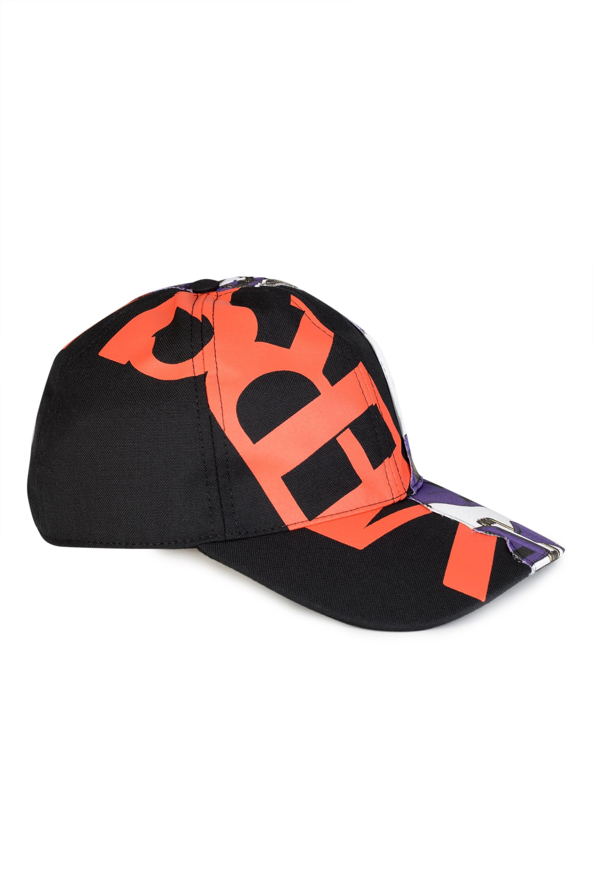 a653a8ed9a6 Versace Red Printed Logo Baseball Cap for Men - Lyst