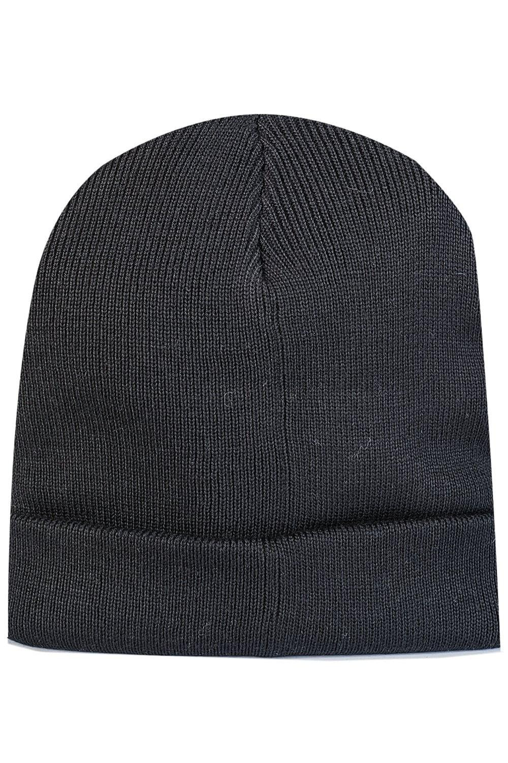 689526f8309 Givenchy Leather Patch Beanie Hat in Black for Men - Lyst