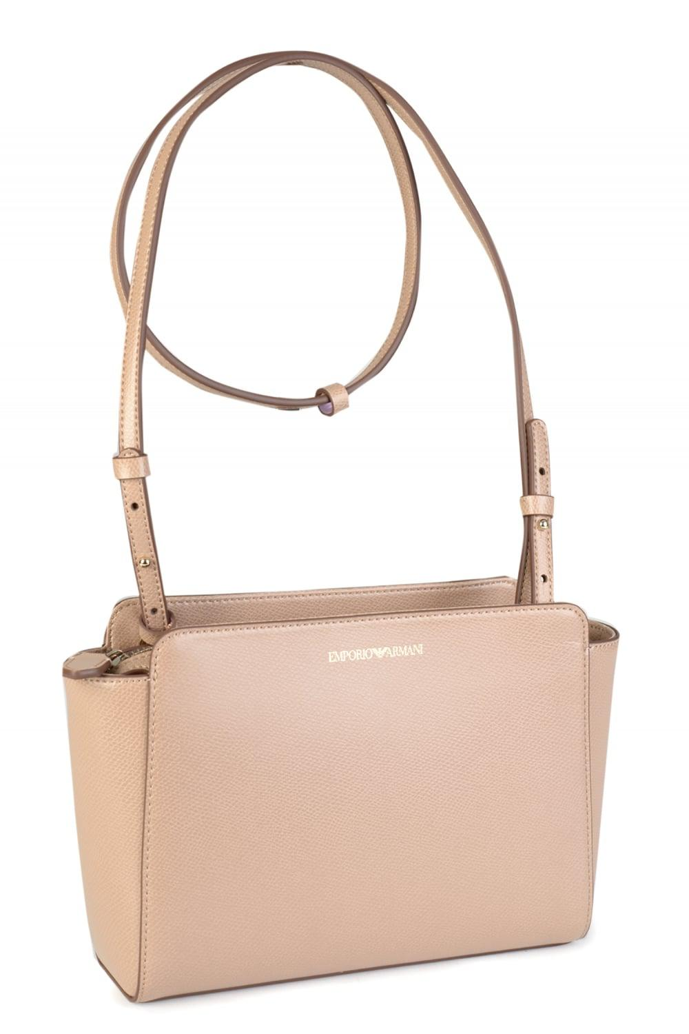 2f7f9bd6bbc3 Armani Emporio Womens Nude Shoulder Sling Bag in Natural - Lyst